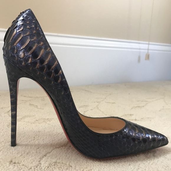 best service 9d291 4ef21 Christian Louboutin So Kate 120mm Python Metal